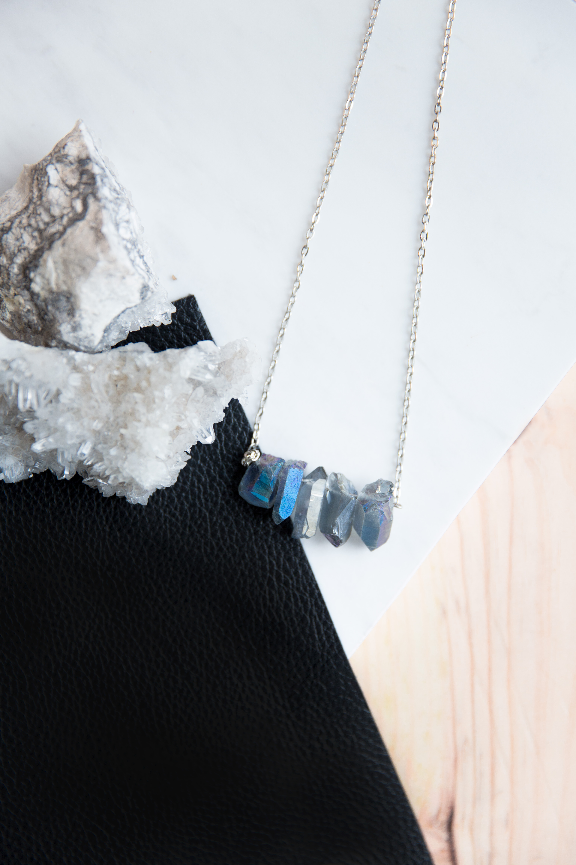 A Line Quartz Necklace