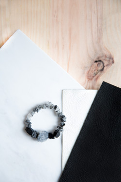 B/W Crystal Bracelet