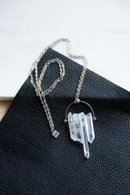 Half Moon Quartz Necklace