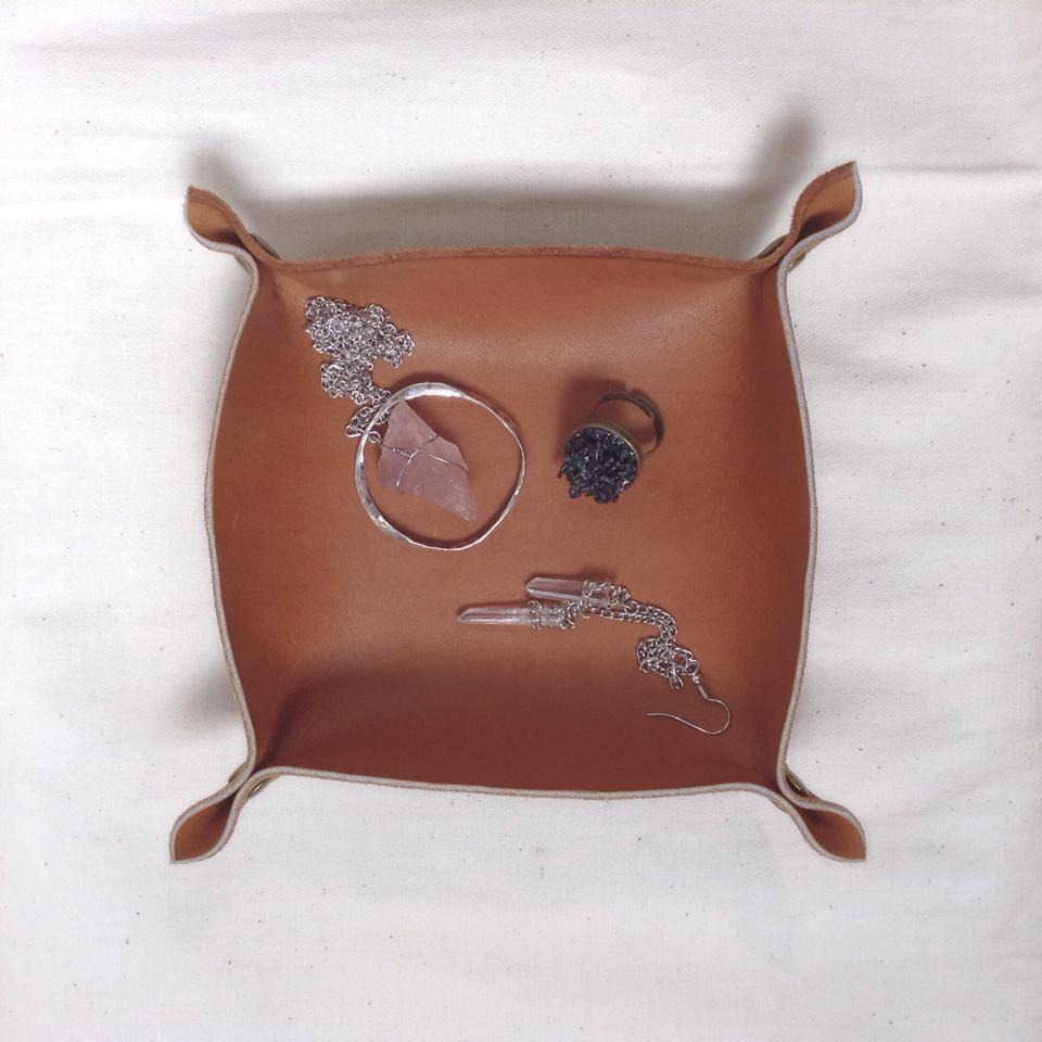 Leather Jewellery Tray