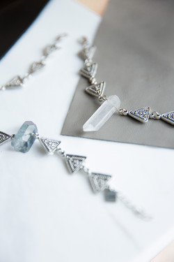 Quartz with Triangles Bracelet