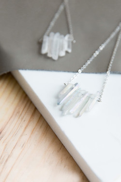 Waterfall Quartz Short Necklace