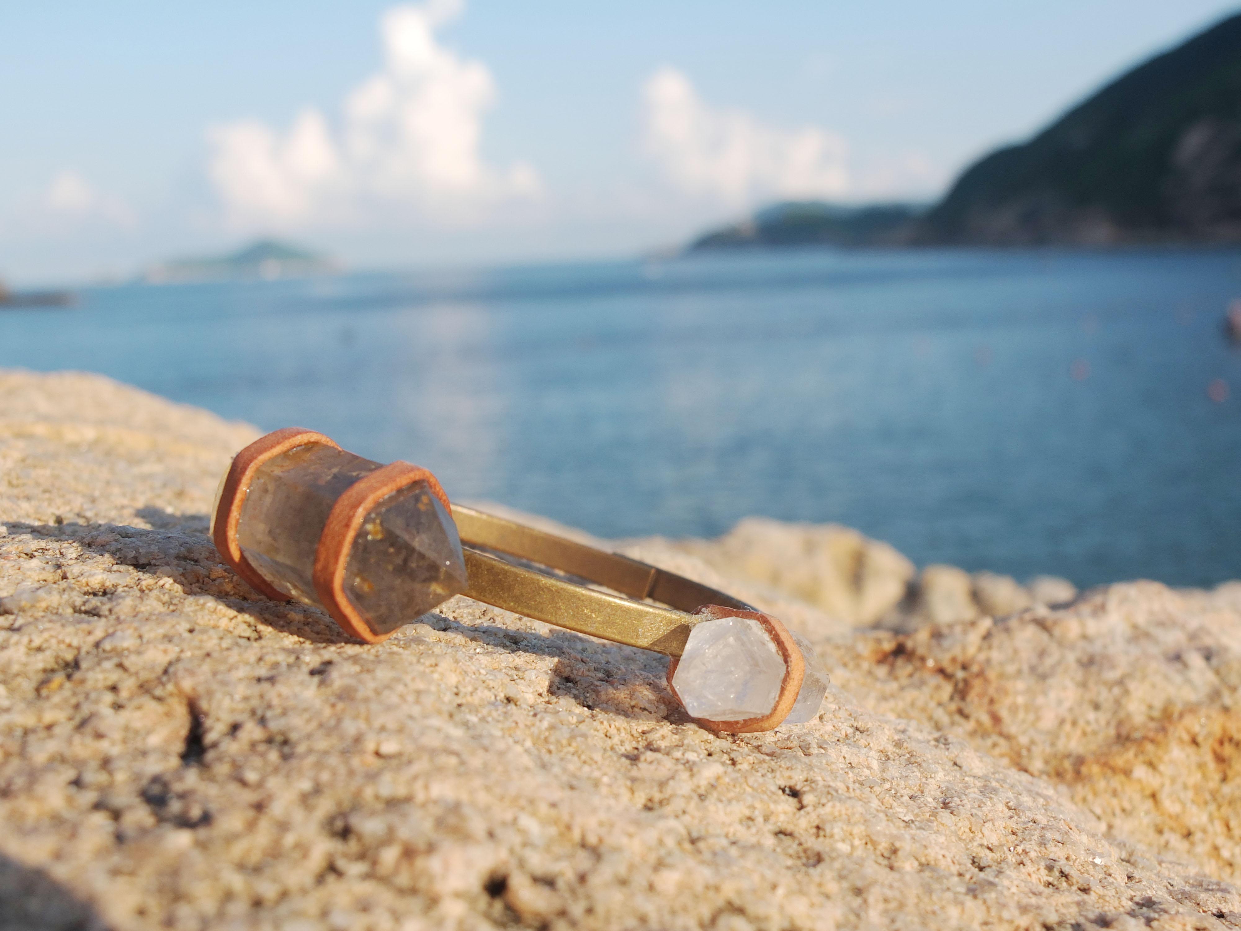 Leather & Crystals Bracelet