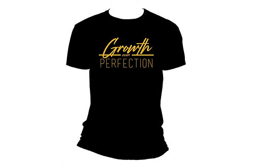 Motto shirt with Gold Glitter