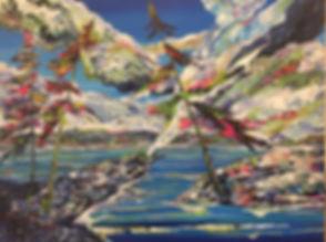 Judith McKay Art-Centre of Gravity-40x30
