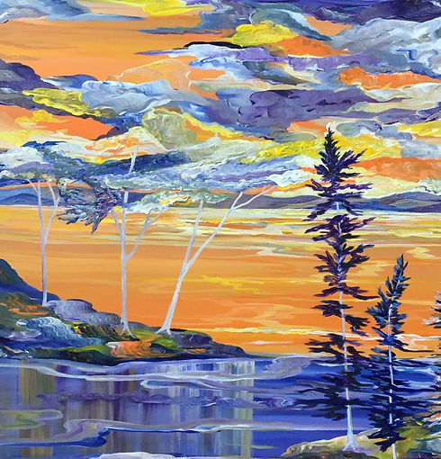 Judith McKay-Tangerine Amethyst-30x48-Ac