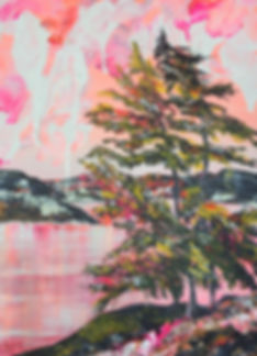 Judith McKay Art-Zephyr Lake-24x18 Acryl