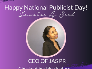 ANJPR Highlights Jasmyne A. Seed for National Publicist Day