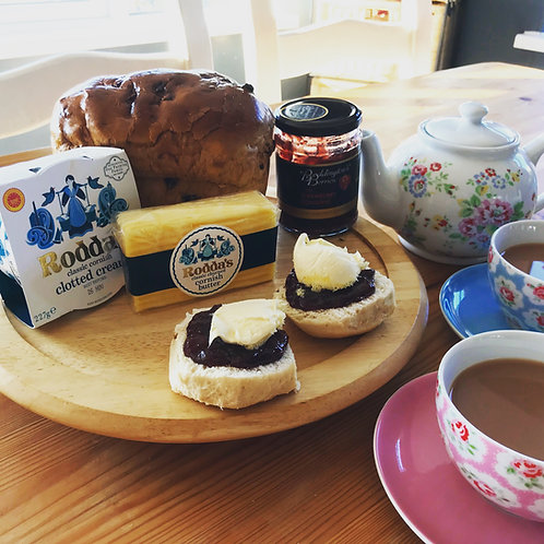 Cornish Cream Tea with Saffron Cake