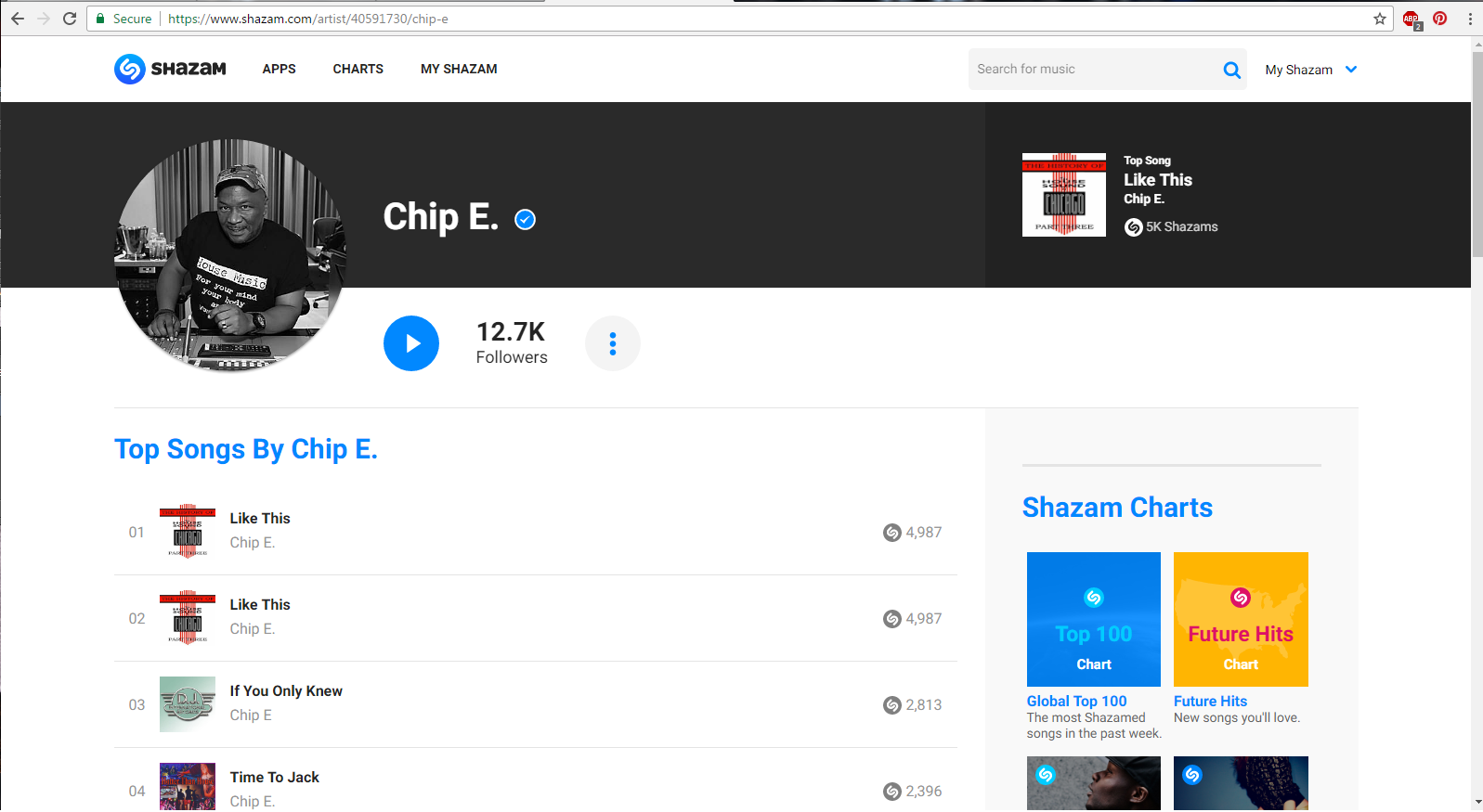 Chip E is Verified on Shazam