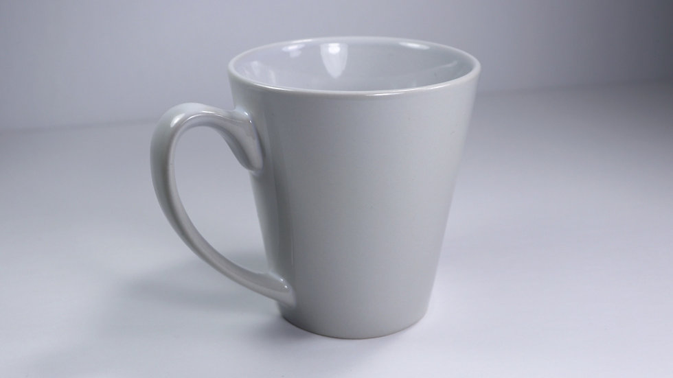 White Porcelain Coffee Latte Mug - 12oz