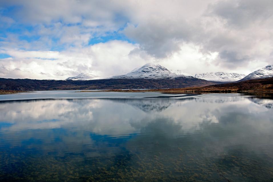 Mountain reflections on Loch Torridon
