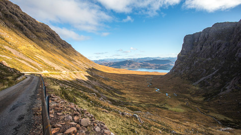 View from the top of Bealach na Ba