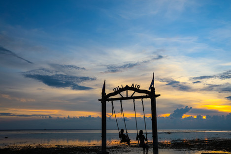 Gili Air Sunset Swings