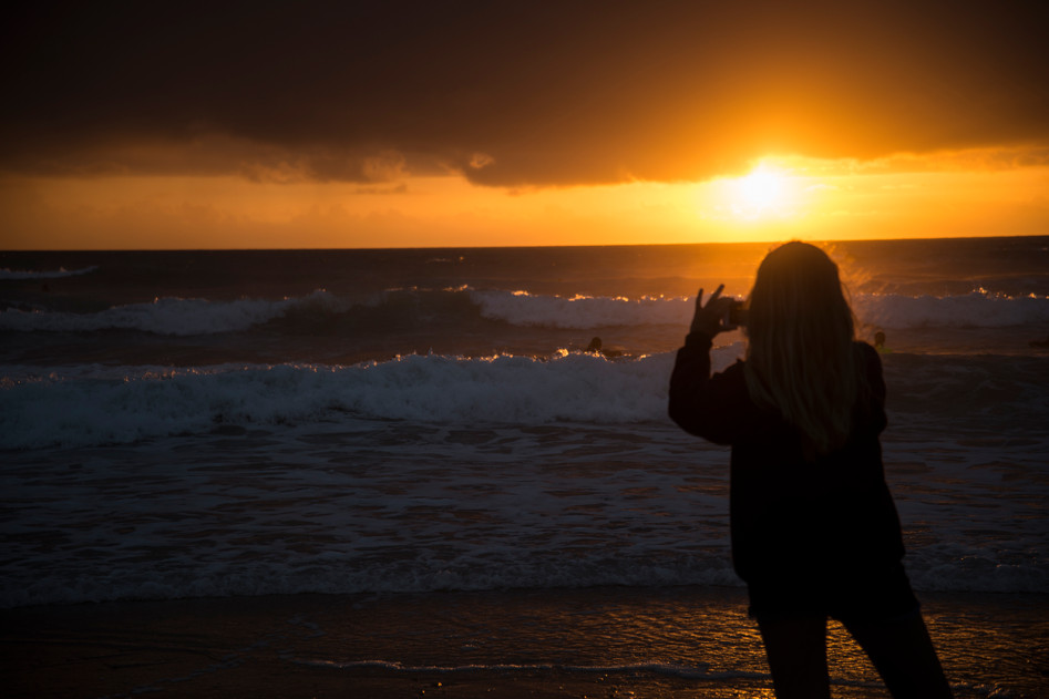 Sunset on Polzeath Beach
