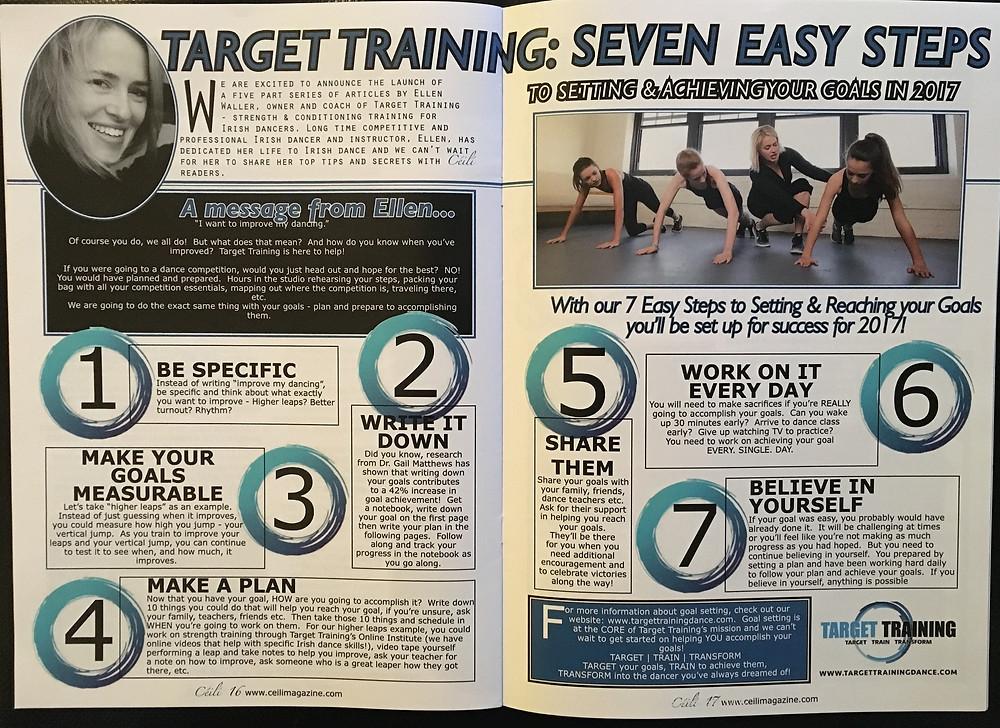 Irish dance strength and conditioning, Irish dance goals, goal setting for Irish dancers