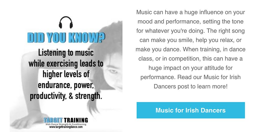Mindset for Irish dancers, music for Irish dance, Irish dance strength and conditioning, online Irish dance training