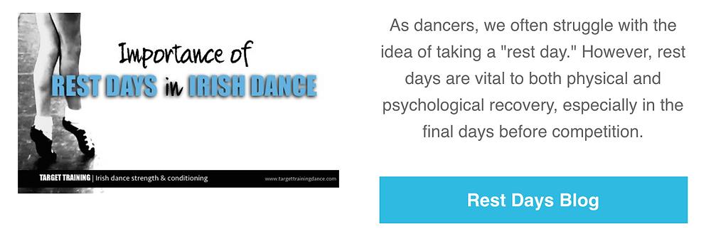 Irish dance strength and conditioning, Irish dance training, rest days in Irish dance, online Irish dance training