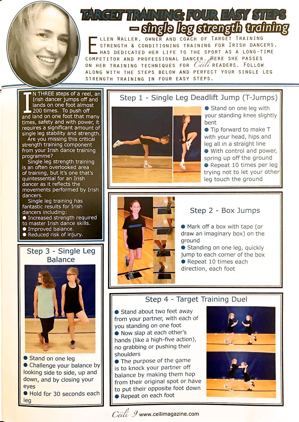 Irish dance strength and conditioning, exercises for Irish dancers, power for Irish dance