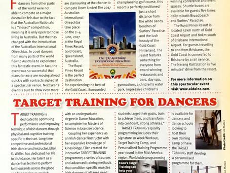 Target Training featured in Irish Dancing Magazine