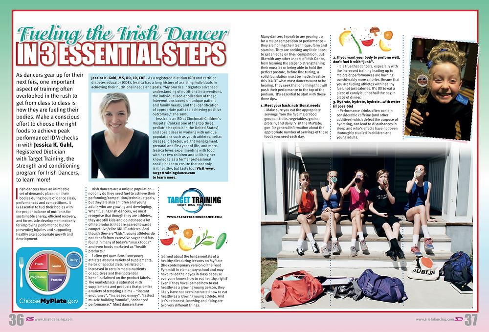 Irish dance nutrition, Jessica Gahl, what Irish dancers should eat