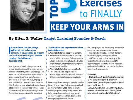 TWO Target Training Features in Irish Dancing Magazine's July issue!