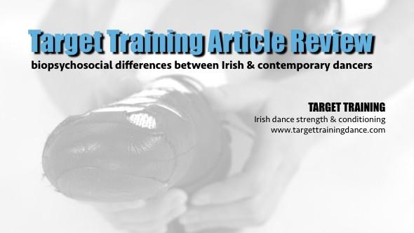 Irish dance strength and conditioning; Irish dance research; Irish dance injuries; dance science
