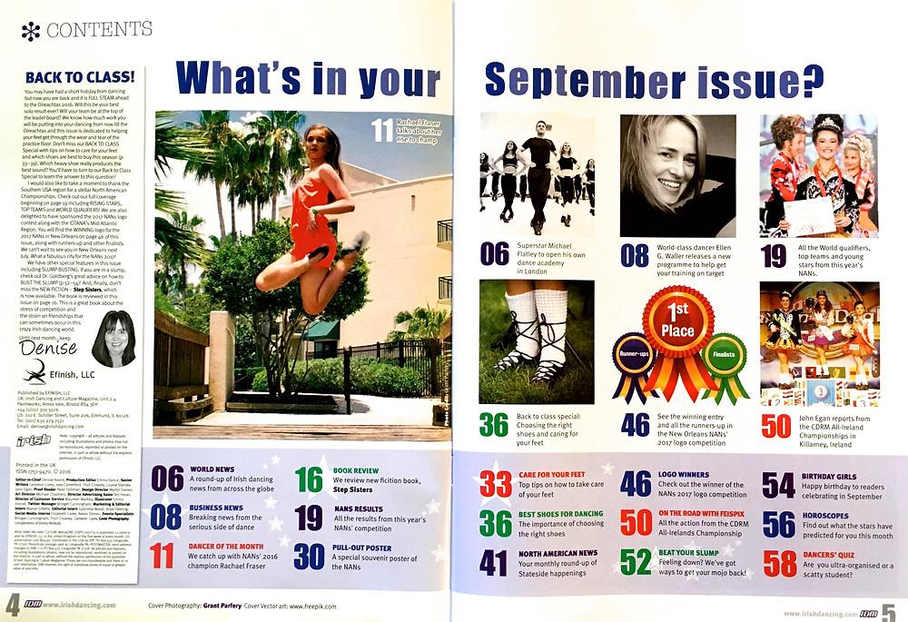 Irish dance strength and conditioning, Irish dancing magazine