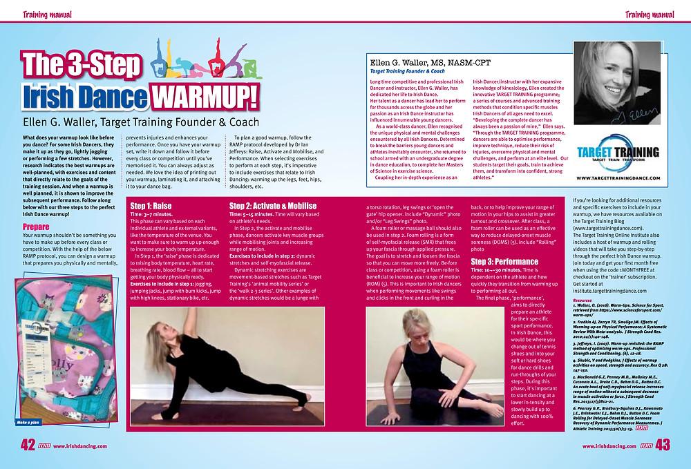 Irish dance strength and conditioning, Irish dance training, Irish dance warmup, how to do a good warmup for Irish dance