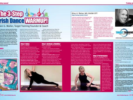 Irish Dancing Magazine features Target Training:  The 3 Step Irish Dance Warmup