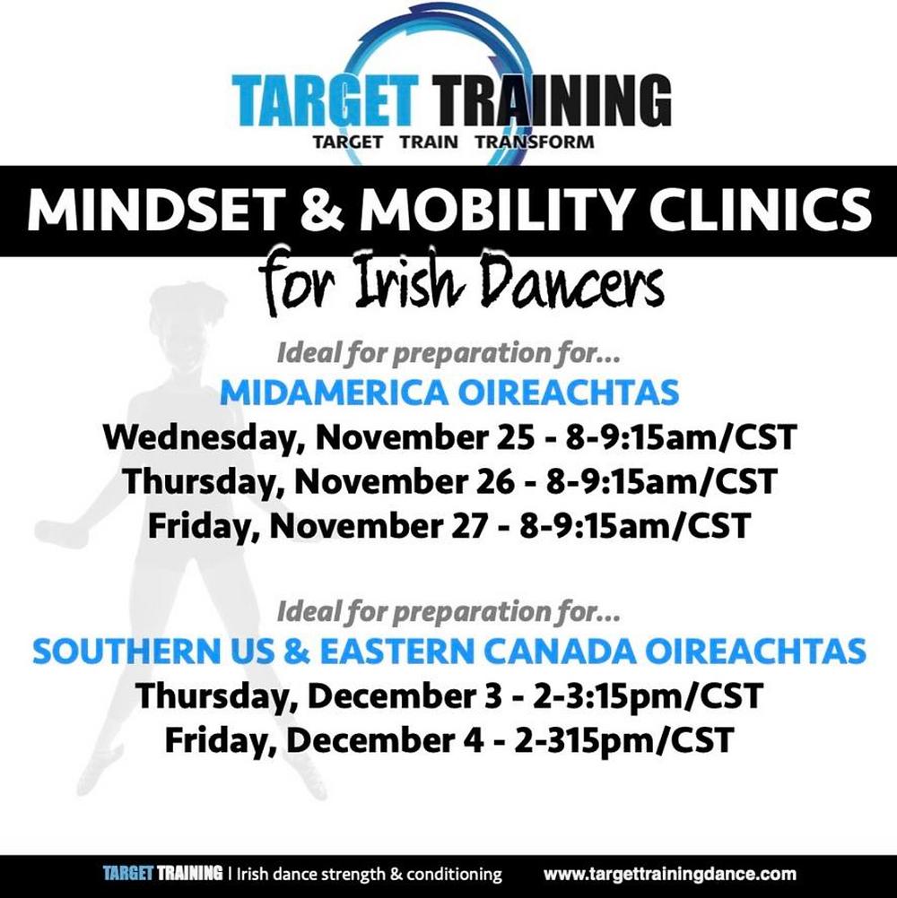 Irish dance mindset training, Irish dance mobility, Irish dance strength and conditioning, mindset for Irish dance, online Irish dance training