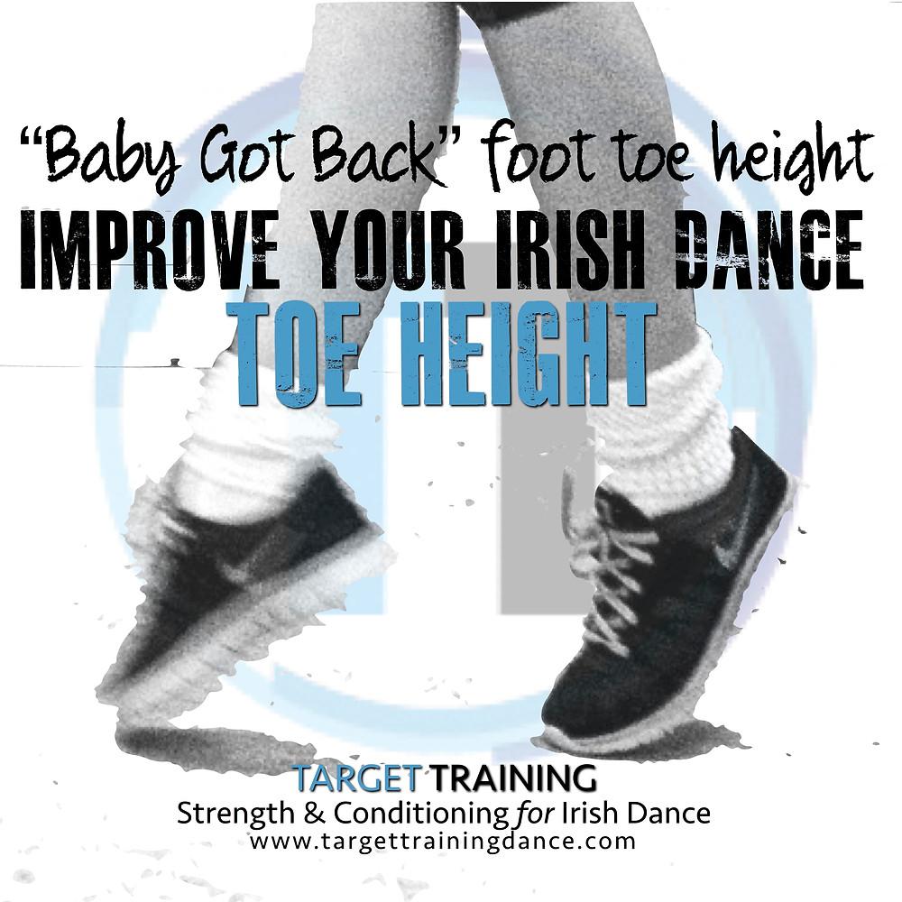 Irish dance strength and conditioning, toe height exercises for Irish dance