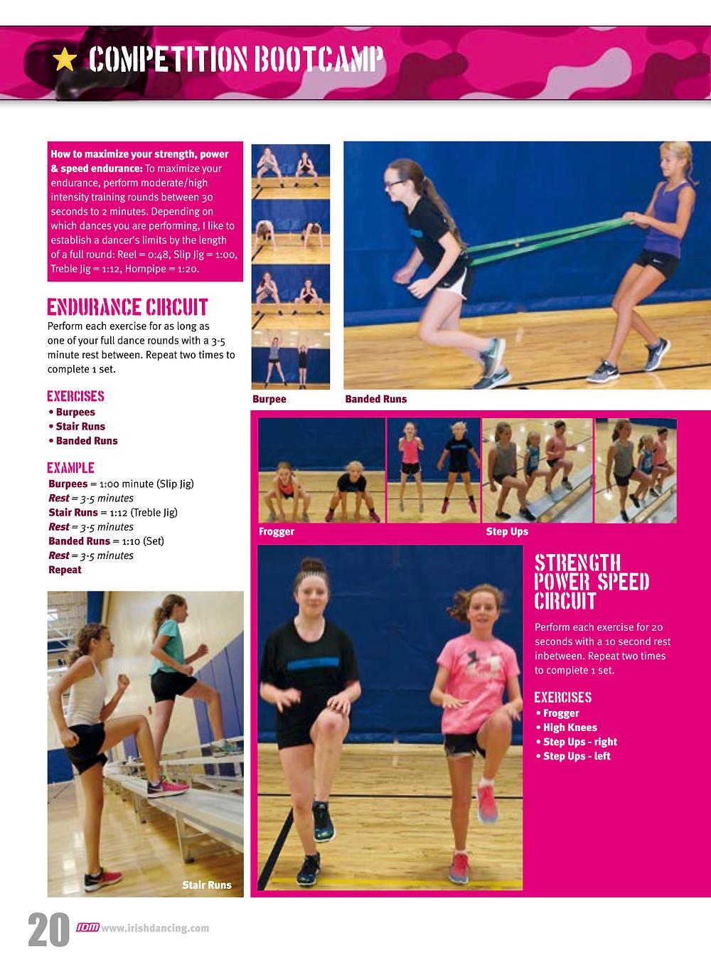 Irish dance stamina, Irish dance strength and conditioning, Irish dancing magazine