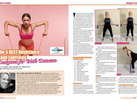 5 Top Resistance Band Exercises - as seen in Irish Dancing Magazine