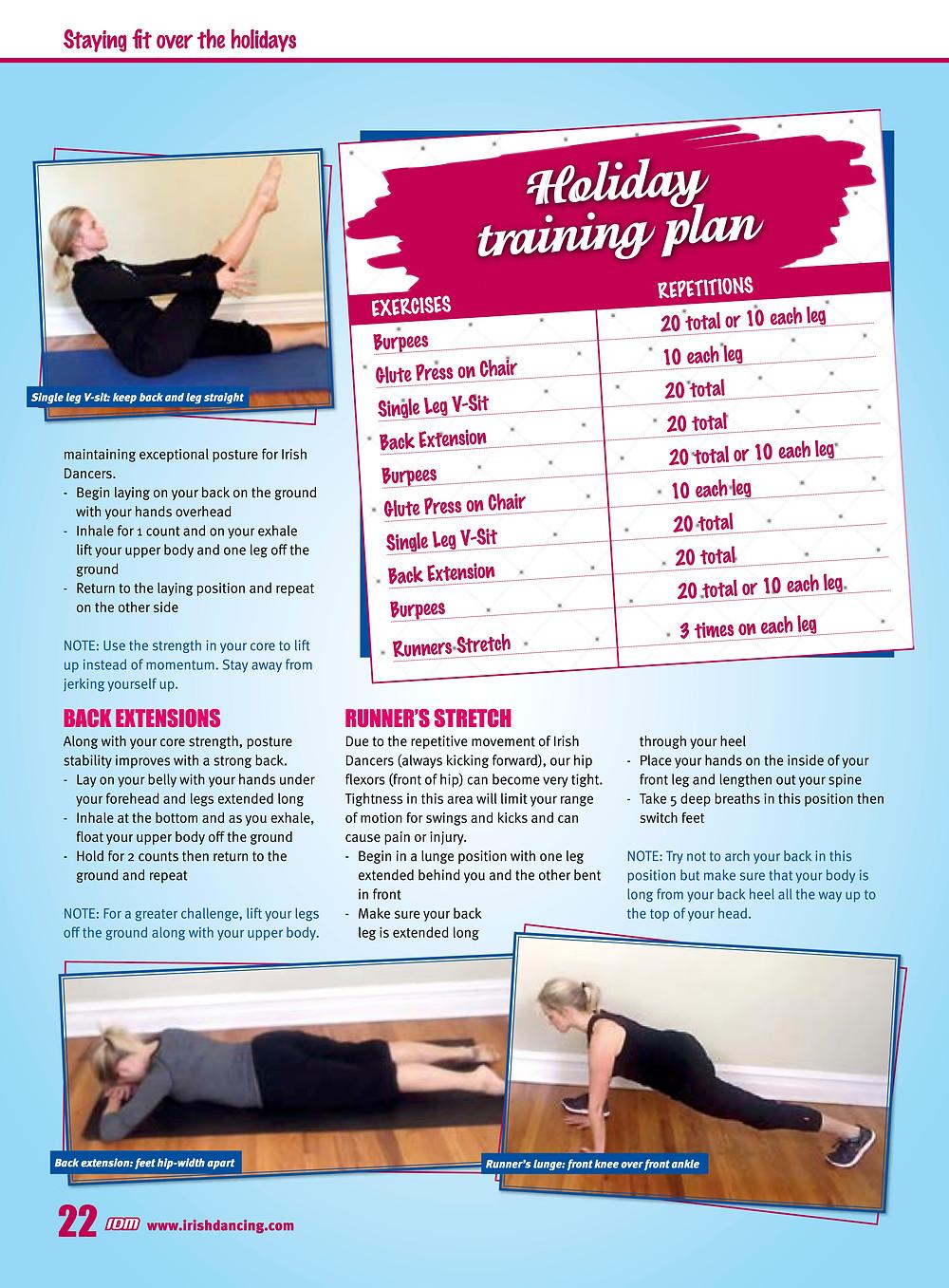 Irish dance strength and conditioning, core strength for Irish dance, ab workouts for Irish dance