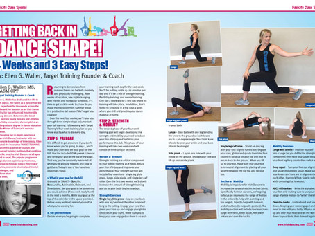Irish Dancing Magazine features Target Training - getting back into dance shape