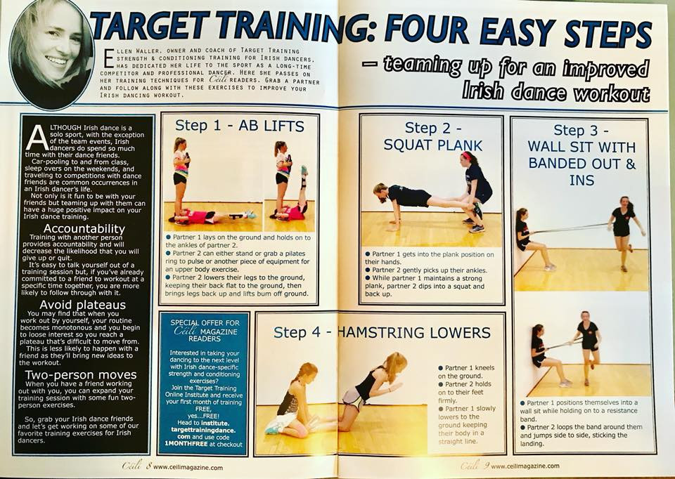 Irish dance strength and conditioning, exercises for Irish dancers