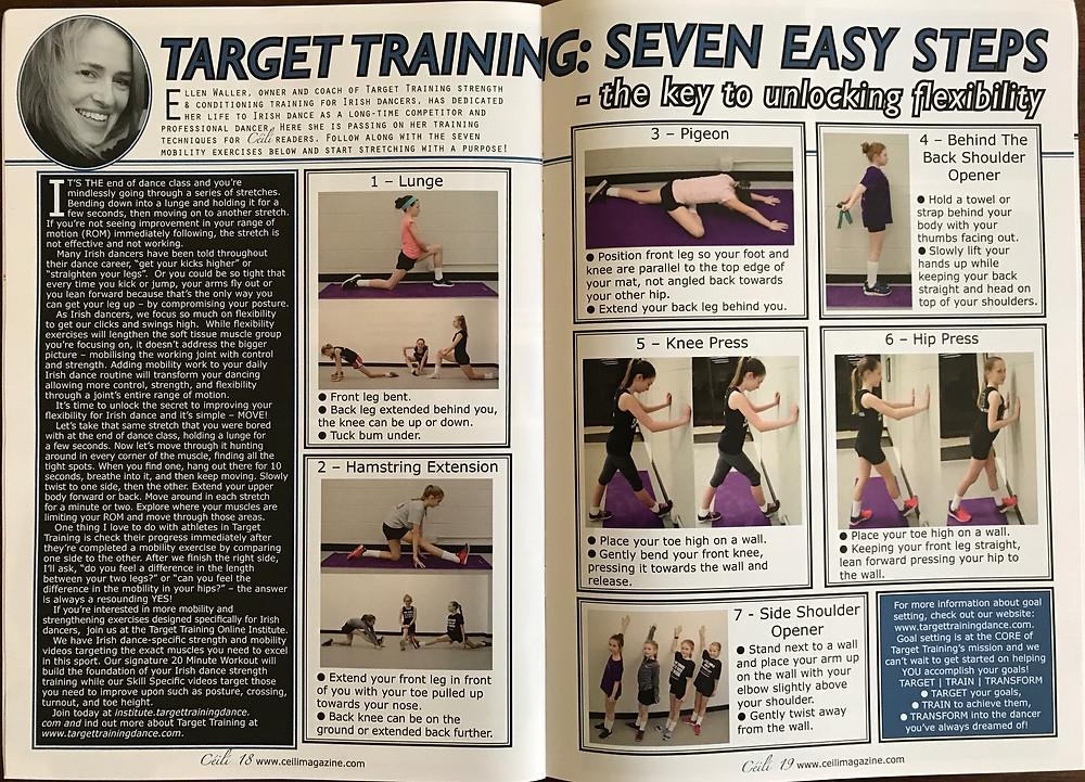 Irish dance strength and conditioning, flexibility exercises for Irish dance