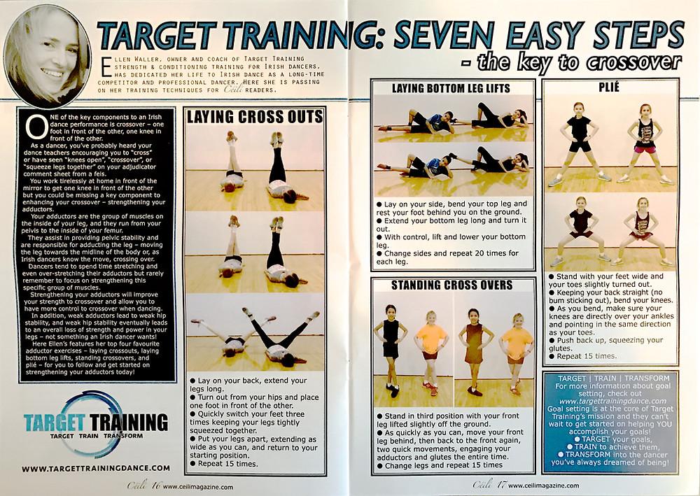 Irish dance strength and conditioning, crossing for Irish dance, crossover exercises for Irish dancers