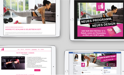 The Fit Mom Redesign der Webseite