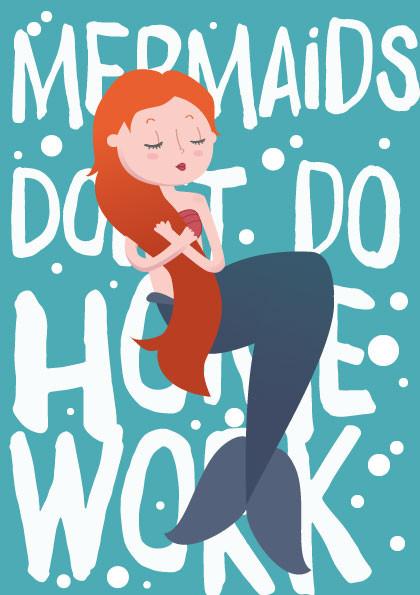 Meerjungfrau Illustration