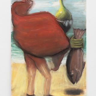 "Anja Salonen  The Fish Pastel on paper 12"" x 16"" 2019"