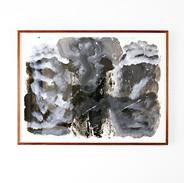 Veli-Matti Hoikka, Untitled (elephant) 2018, acrylic on paper, 22 x 29 7/8 inches, 56 x 76 cm, (framed: 25 x 32 ¼ inches, 63.5 x 83.1 cm)