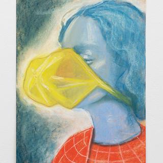 "Anja Salonen  Deep Breathing Pastel on paper 12"" x 16"" 2019"
