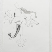 """Joshua Ross Selected Drawing from series In Pursuit: 'Inner Lining' Graphite on paper 9"""" x 12""""  2017"""
