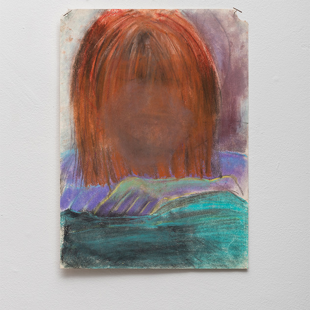 "En Plein Error Red Head  Pastel on paper 10.25"" x 14""  2018"