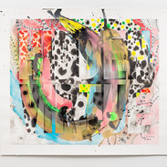 Pearl C. Hsiung Hidden Virtue Oil-based enamel, sumi ink and watercolor on paper 44.5 x 51.5 inches 2015