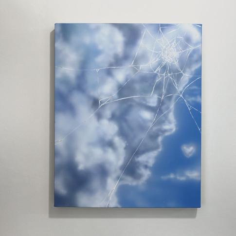 "Untitled (Clouds 1) Kylen McMorran Acrylic on Canvas 16"" x 20"" 2018"