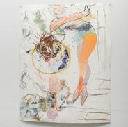 "En Plein Error Dancing Bear Graphite on paper 24"" x 18""  2016"