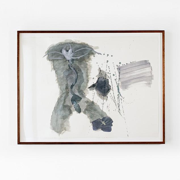 Veli-Matti Hoikka, Untitled (Devil take the hindmost) 2018, acrylic on paper, 22 5/8 x 30 ¼ inches